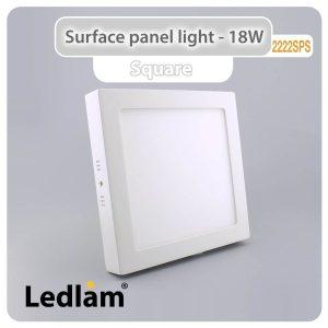 Ledlam LED Surface Panel Light 18W Square 2222SPS 01