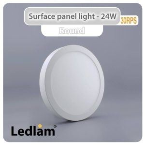 Ledlam LED Surface Panel Light 24W Round 30RPS 01
