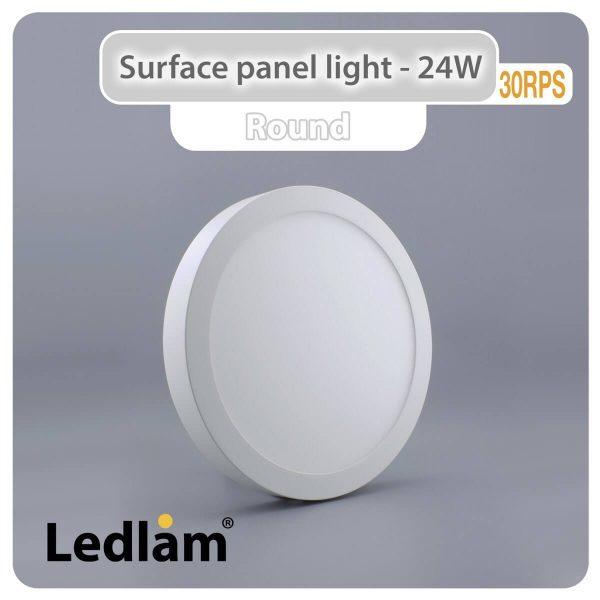 Ledlam LED Surface Panel Light 24W Round 30RPS 01