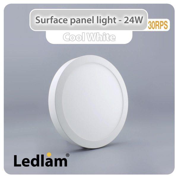 Ledlam LED Surface Panel Light 24W Round 30RPS Cool White 30739