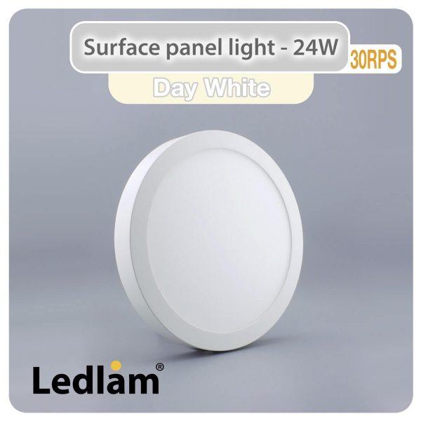 Ledlam LED Surface Panel Light 24W Round 30RPS Day White 30738