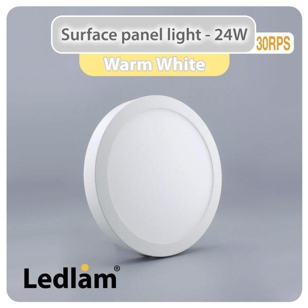 Ledlam LED Surface Panel Light 24W Round 30RPS Warm White 30737