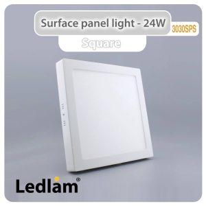Ledlam LED Surface Panel Light 24W Square 3030SPS 01