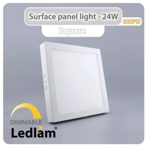 Ledlam LED Surface Panel Light 24W Square 3030SPSD dimmable 01
