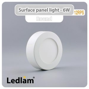 Ledlam LED Surface Panel Light 6W Round 12RPS 01
