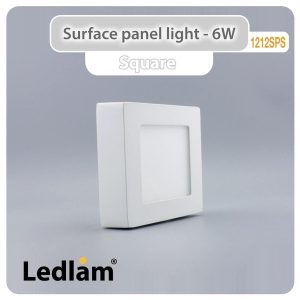Ledlam LED Surface Panel Light 6W Square 1212SPS 01