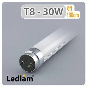 Ledlam T8 6ft 1800mm 30W LED Tube 01
