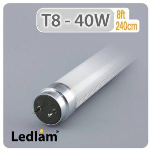 Ledlam T8 8ft 2400mm 40W LED Tube 01