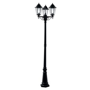 Searchlight ALEX OUTDOOR POST LAMP 3 LIGHT BLACK Ht 220 82540BK 01