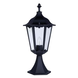 Searchlight ALEX OUTDOOR POST LAMP SMALL 1 LIGHT BLACK Ht55 82503BK 01