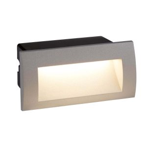 Searchlight ANKLE LED INDOOR OUTDOOR RECESSED RECTANGLE GREY 0662GY 01