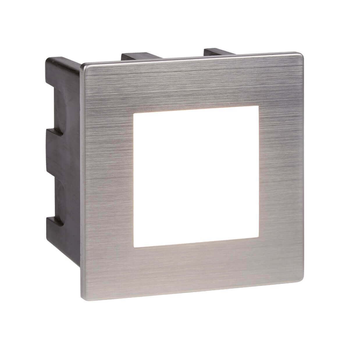 76cf03238352 Searchlight ANKLE LED INDOOR OUTDOOR RECESSED SQUARE CHROME OPAL WHITE  DIFFUSER 0761 01