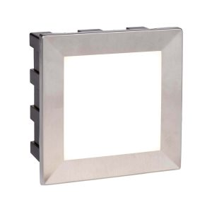 Searchlight ANKLE LED INDOOR OUTDOOR RECESSED SQUARE CHROME OPAL WHITE DIFFUSER 0763 01
