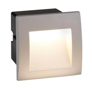 Searchlight ANKLE LED INDOOR OUTDOOR RECESSED SQUARE GREY 0661GY 01