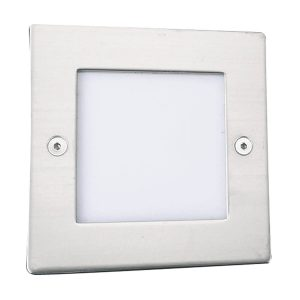 Searchlight ANKLE LED RECESSED INDOOR OUTDOOR LIGHT SQUARE CHROME WHITE LED 9907WH 01
