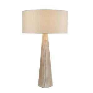 Searchlight BARK TABLE LAMP WASH BROWN BASE OATMEAL SHADE 1026BR 01