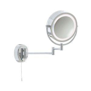 Searchlight BATHROOM ILLUMINATED MIRROR CHROME EXTENDABLE SWING ARM LT 190mm 11824 01