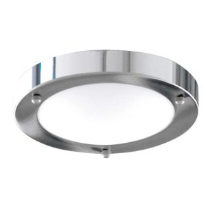 Searchlight BATHROOM IP44 1 LIGHT 31cm CHROME DOMED WHITE GLASS FLUSH 1131 31CC 01 1