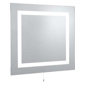 Searchlight BATHROOM LIGHT IP44 ILLUMINATED MIRROR RECTANGULAR 2 LIGHT MIRROR GLASS 8510 01