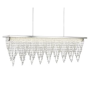 Searchlight DRAPE LED CEILING BAR 65cm LENGTH CHROME CRYSTAL WATERFALL DRESSING 8857CC 01