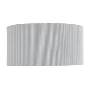 Searchlight DRUM PLEAT 2 LIGHT WALL BRACKET SILVER PLEATED SHADE FROSTED GLASS DIFFUSER 3462 2SI 01