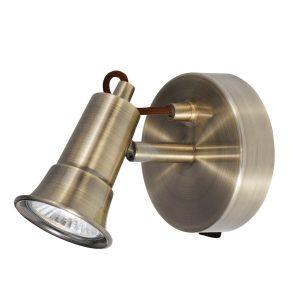 Searchlight EROS 1 LIGHT SPOTLIGHT ANTIQUE BRASS 1221AB 01
