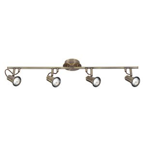 Searchlight EROS 4 LIGHT SPOTLIGHT SPLIT BAR ANTIQUE BRASS 1224AB 01