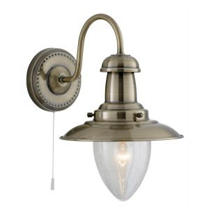 Searchlight FISHERMAN ANTIQUE BRASS WALL LIGHT 5331 1AB 01