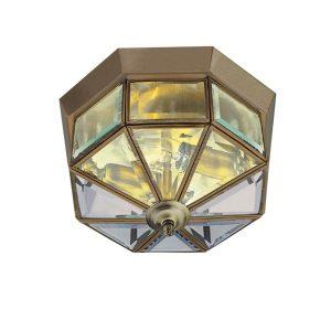 Searchlight FLUSH ANTIQUE BRASS FITTING 23cm 8235AB 01 1