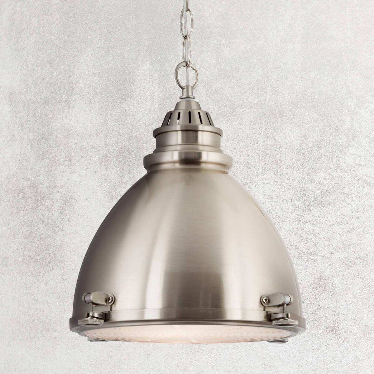 1 LIGHT SATIN NICKEL DOME WITH