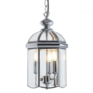 Searchlight LANTERN CHROME BEVELLED GLASS DOMED 3 LIGHT 5133CC 01 1