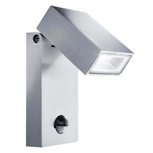 Searchlight LED OUTDOOR ALUMINIUM WALL BRACKET PIR SENSOR 7585 01