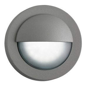 Searchlight LED OUTDOOR ROUND GREY FLUSH 1402GY 01