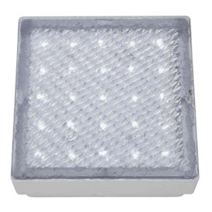 Searchlight LED RECESSED INDOOR OUTDOOR WALKOVER CLEAR 15cm SQUARE WHITE LED 9913WH 01