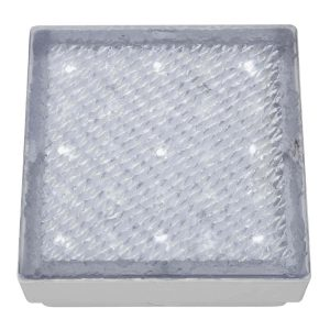 Searchlight LED RECESSED INDOOR OUTDOOR WALKOVER CLEAR SMALL SQUARE WHITE LED 9914WH 01