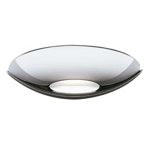 Searchlight LED UPLIGHT WALL BRACKET CHROME FROSTED GLASS 2209CC 01