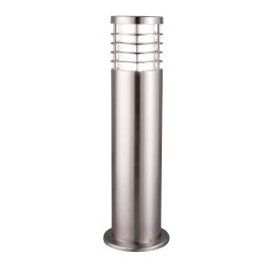 Searchlight LOUVRE OUTDOOR 1 LIGHT OUTDOOR POST HEIGHT 45cm STAINLESS STEEL CLEAR POLYCARBONATE 1556 450 01