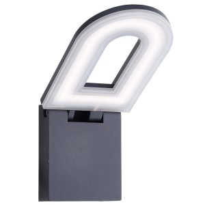 Searchlight MANHATTAN LED OUTDOOR WALL BRACKET DARK GREY FROSTED DIFFUSER 0583GY 01
