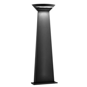 Searchlight MISSISSIPPI OUTDOOR LED SEMI CRICLE POST 800mm HEIGHT DARK GREY 5122 800GY 01