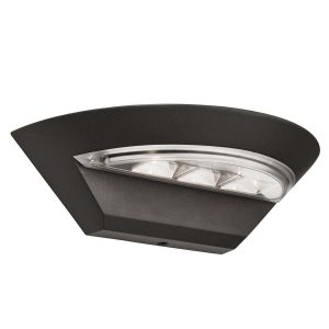 Searchlight MISSISSIPPI OUTDOOR LED SEMI CRICLE WALL BRACKET DARK GREY 5122GY 01