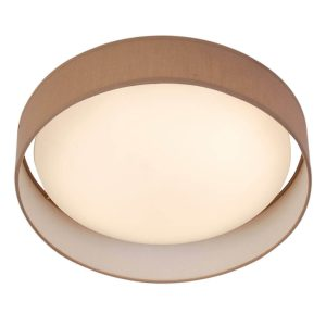 Searchlight MODERN 1 LIGHT LED FLUSH CEILING LIGHT ACRYLIC BROWN SHADE 9371 37BR 01 1