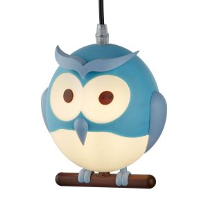 Searchlight NOVELTY CHILDRENS OWL PENDANT BLUE 0113BL 01 1