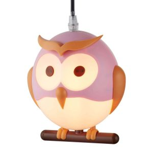 Searchlight NOVELTY CHILDRENS OWL PENDANT PINK 0113PI 01 1