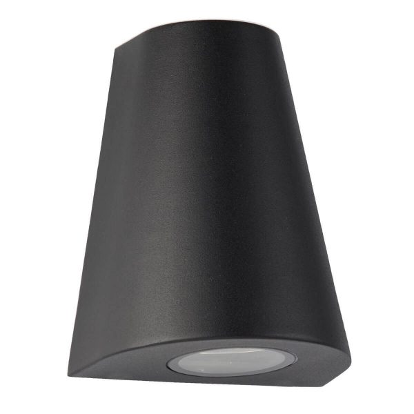 Searchlight OUTDOOR 2 LIGHT CURVED LED WALL BRACKET BLACK 9450BK 02