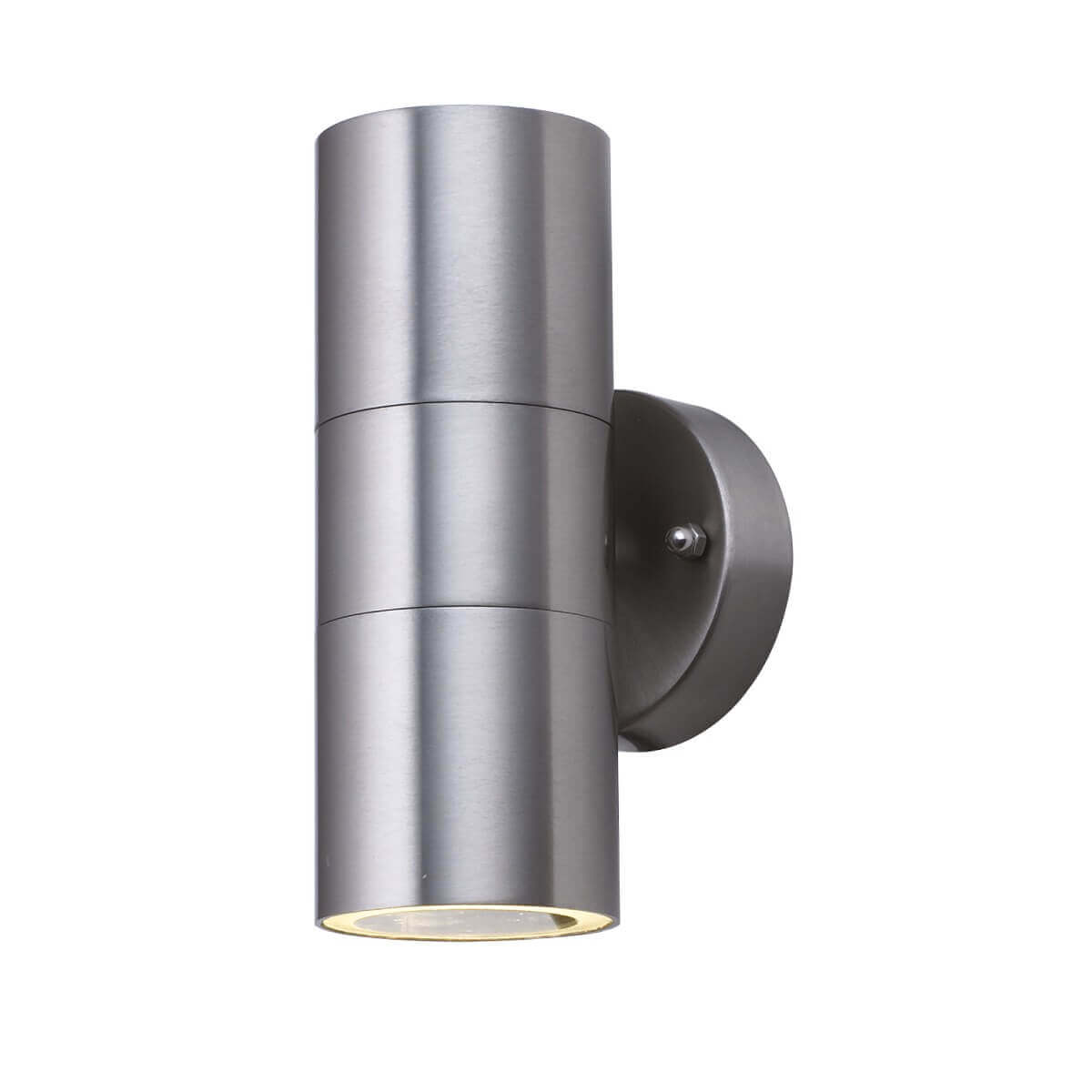 Searchlight OUTDOOR PORCH GU10 LED WALL 2 LIGHT STAINLESS STEEL TUBE 5008 01