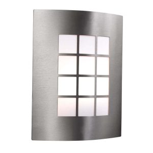 Searchlight OUTDOOR PORCH WALL LIGHT STAINLESS STEEL 1 LIGHT 3140SS 01