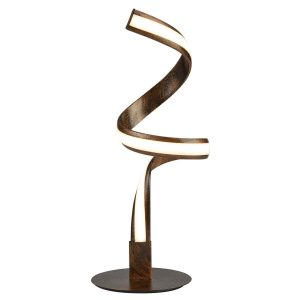 Searchlight RIBBON LED TWIST TABLE LAMP RUSTIC BLACK GOLD 2812RU 01