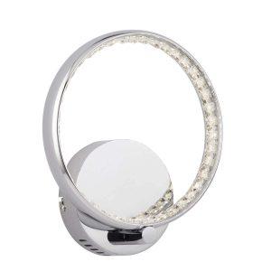 Searchlight RINGS LED WALL BRACKET CHROME CLEAR CRYSTAL 3111CC 01