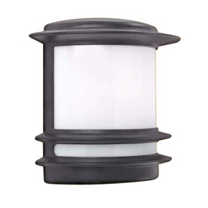 Searchlight STROUD 1 LIGHT OUTDOOR WALL BRACKET BLACK WHITE POLYCARBONATE 1812 01