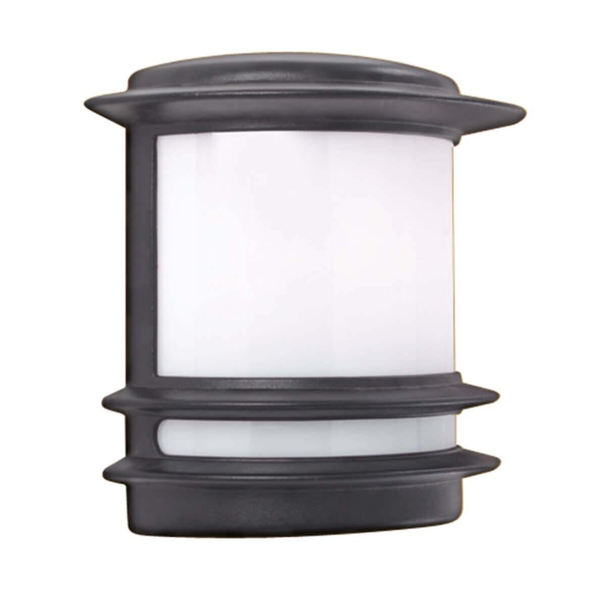 Stroud 1 Light Outdoor Wall Bracket Black White Polycarbonate Ledlam Lighting